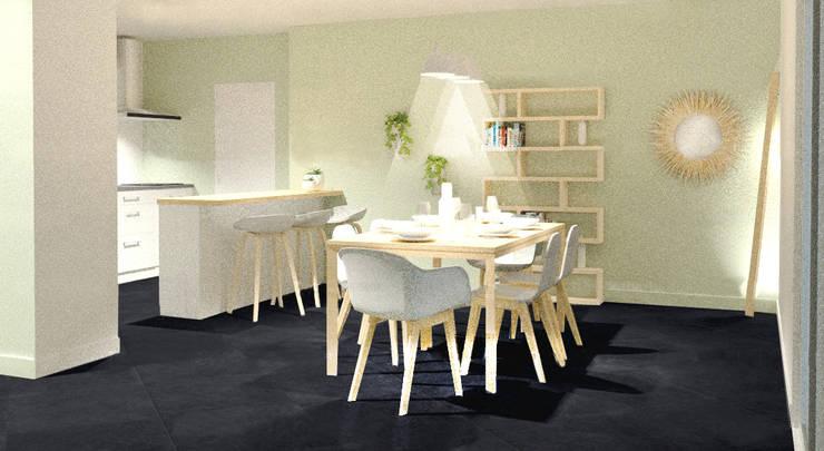 Aménagement d'une salle à manger en Bourgogne : Salle à manger de style  par Tiffany FAYOLLE