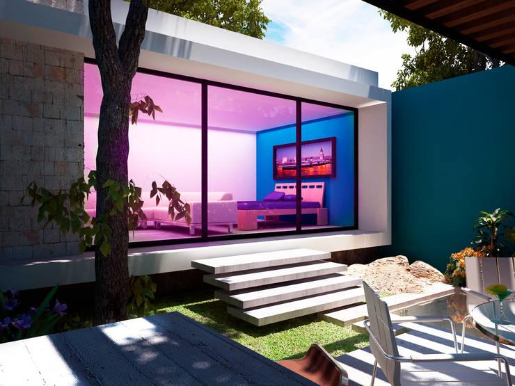 Habitación Principal: Recámaras de estilo  por Esquiliano Arqs