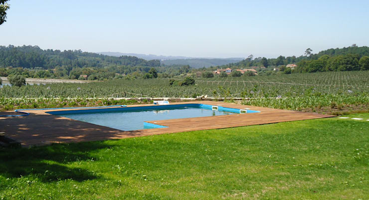 Quinta de Vilar: Jardins  por Raquel Frias - arquitectura paisagista