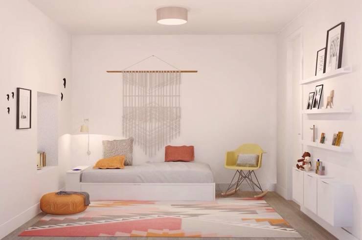 GIRLS ROOM: Quartos de criança  por Santiago   Interior Design Studio