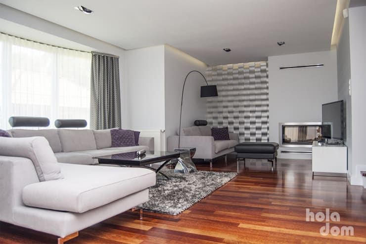 METAMORFOZY II: styl , w kategorii Salon zaprojektowany przez HOLADOM Ewa Korolczuk Studio Architektury i Wnętrz