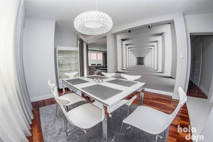METAMORFOZY II: styl , w kategorii Jadalnia zaprojektowany przez HOLADOM Ewa Korolczuk Studio Architektury i Wnętrz