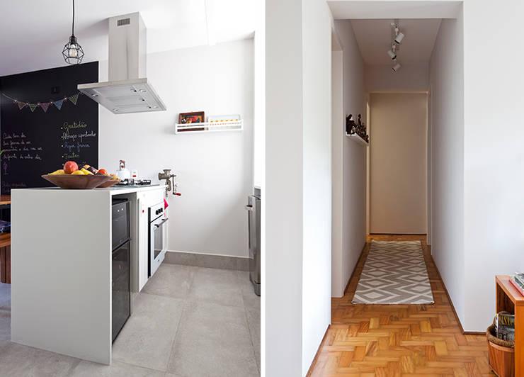 Apartamento da Cláudia e do Daniel: Cozinhas  por INÁ Arquitetura