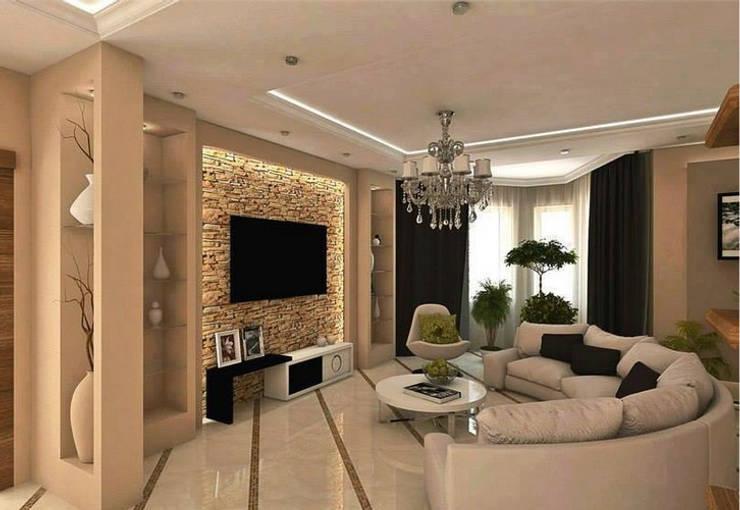 """""""Sala de Estar"""": Sala de estar  por CORTINAGGIO TECIDOS PARA DECORAÇÃO LTDA"""