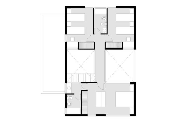 Planta Alta:  de estilo  por AHA! Arquitectura