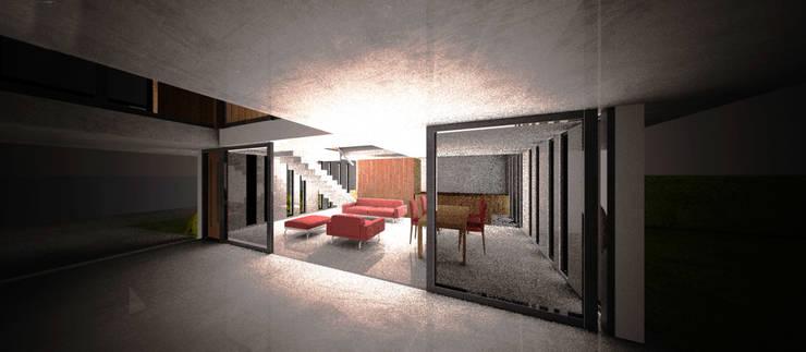 Casa en San Juan:  de estilo  por AHA! Arquitectura