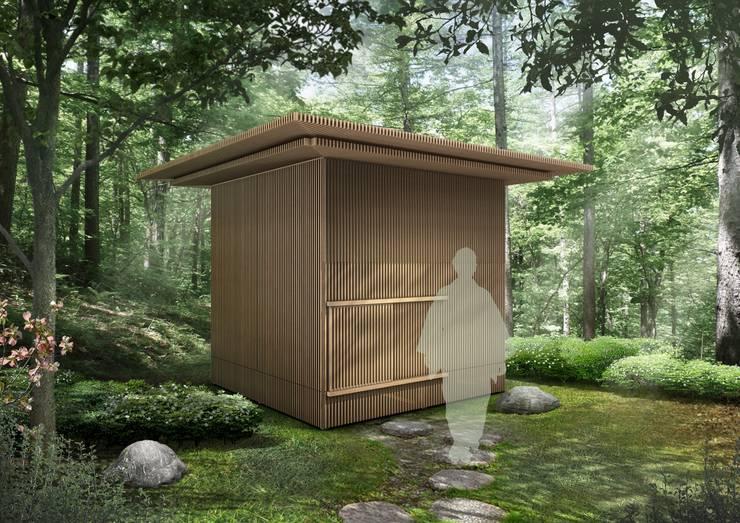移動茶室: 梶浦博昭環境建築設計事務所が手掛けた和室です。