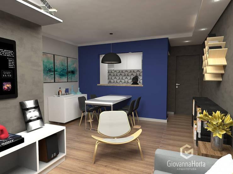 Imagem 01: Salas de estar modernas por Estúdio G | Arquitetura
