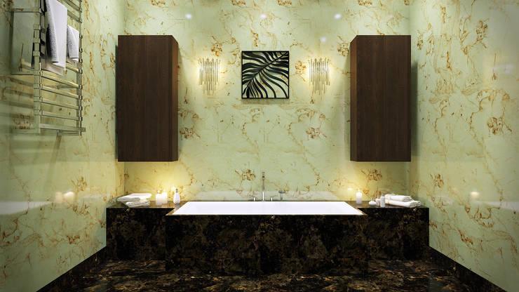 Baños de estilo  por Архитектурное бюро Киры Шелмановой