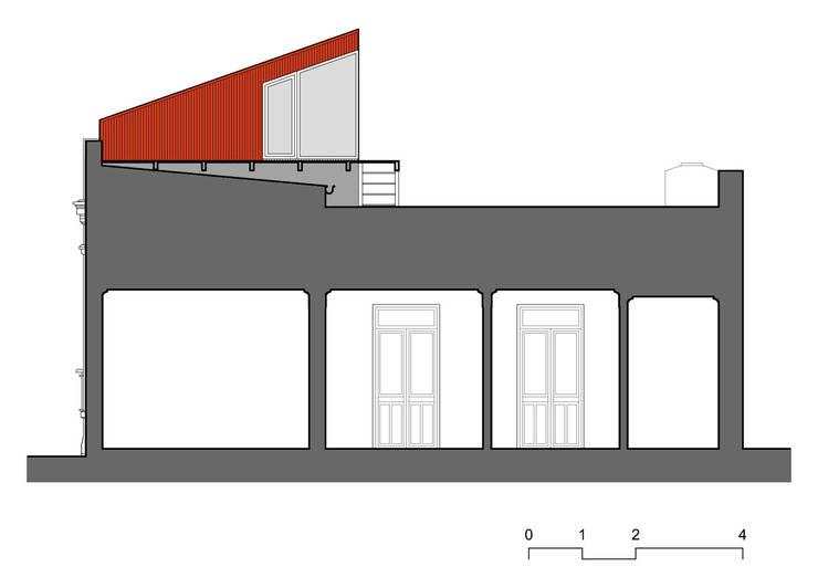 Minigimnasio: Gimnasios de estilo  por Paschetta&Cavallero Arquitectos