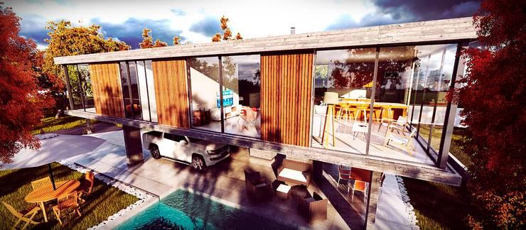 Casa GA: Casas de estilo  por Estudio PM