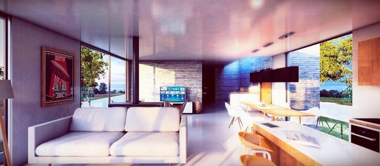 Casa GA: Livings de estilo  por Estudio PM