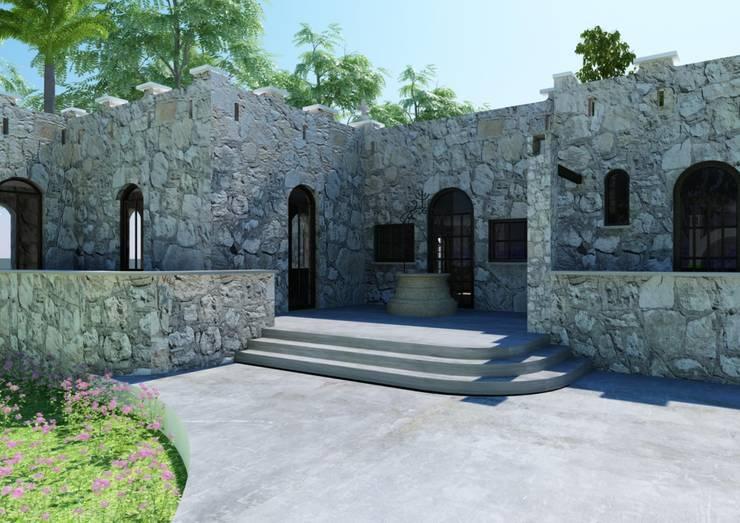 SH 62: Casas de estilo  por Esquiliano Arqs