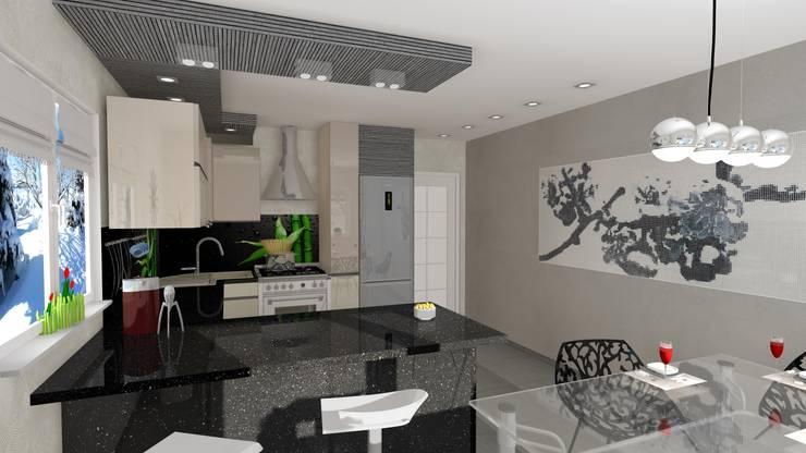 kuchnia Rychwał: styl , w kategorii Kuchnia zaprojektowany przez Wizja Wnętrza - projekty i aranżacje