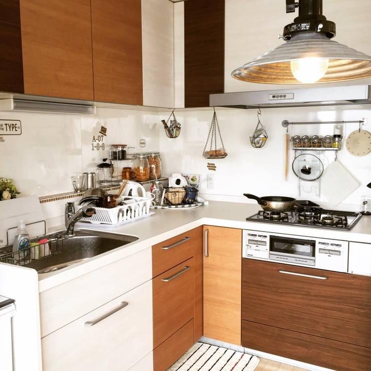 Eclectic style kitchen by 高嶋設計事務所/恵星建設株式会社 Eclectic