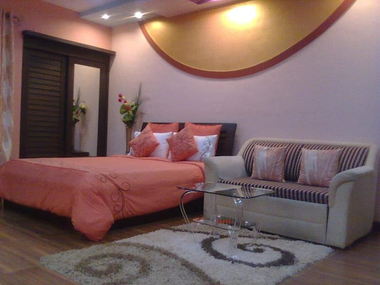 STUDIO APARTMENT IN NAVI MUMBAI:  Bedroom by Alaya D'decor
