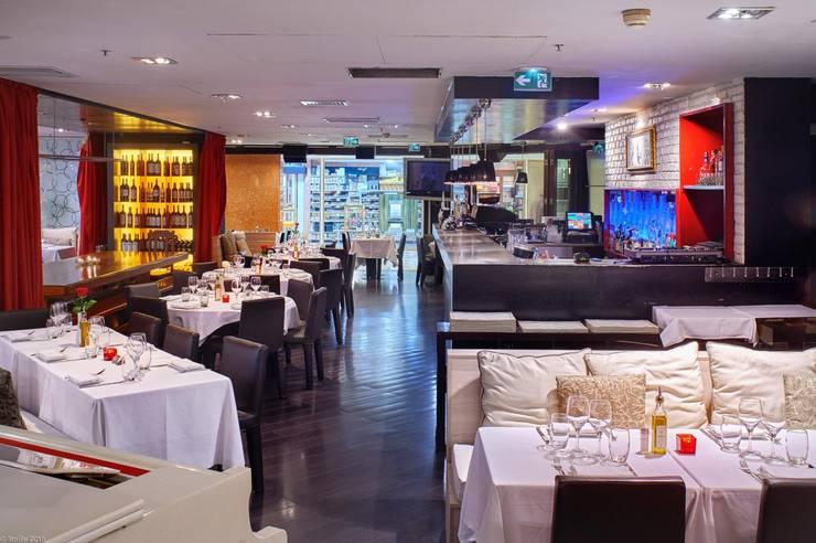 Viadurini realizuje wystrój prestiżowy Pacific Restaurant Bar Lounge w Montecarlo  : styl , w kategorii Salon zaprojektowany przez Viadurini.pl