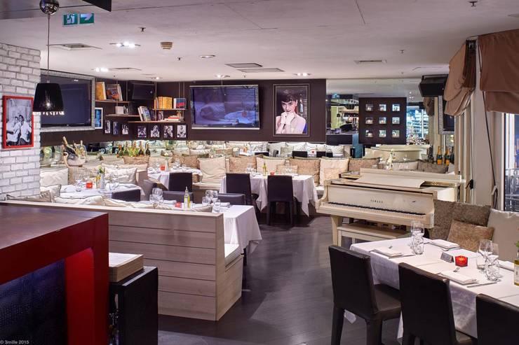 Viadurini realizuje wystrój prestiżowy Pacific Restaurant Bar Lounge w Montecarlo  : styl , w kategorii Ściany i podłogi zaprojektowany przez Viadurini.pl