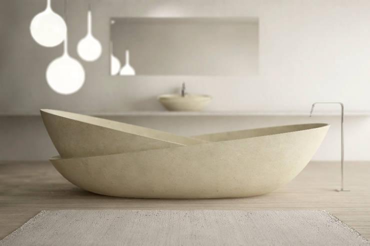 Ciotole collection, Mario Mazzer: Bagno in stile in stile Moderno di PURAPIETRA