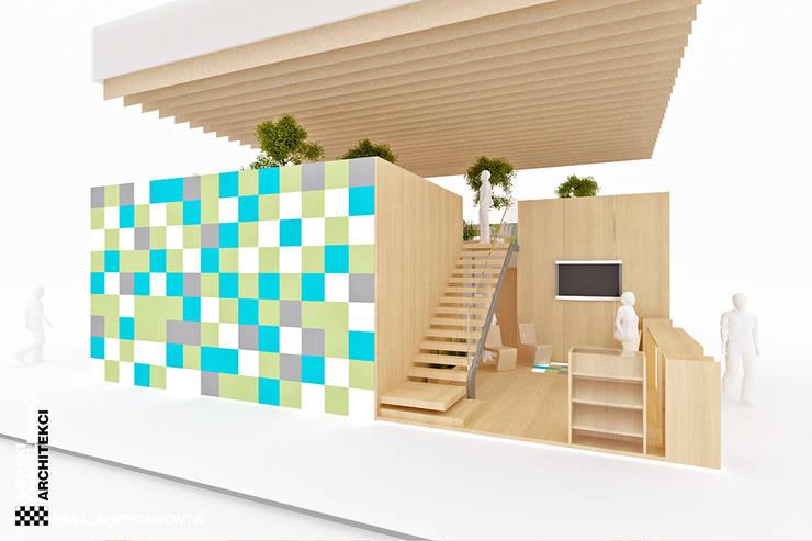 PAWILONY WYSTAWOWE: styl , w kategorii  zaprojektowany przez GÓRSKI CHMIELEWSKA ARCHITEKCI,