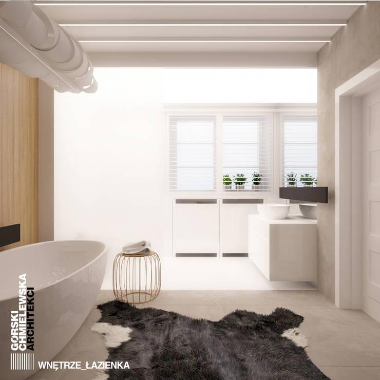 ŁAZIENKA SZCZECIN: styl , w kategorii Łazienka zaprojektowany przez GÓRSKI CHMIELEWSKA ARCHITEKCI