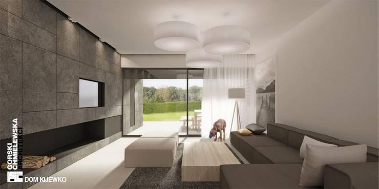 WNĘTRZE KIJEWKO: styl , w kategorii Salon zaprojektowany przez GÓRSKI CHMIELEWSKA ARCHITEKCI,