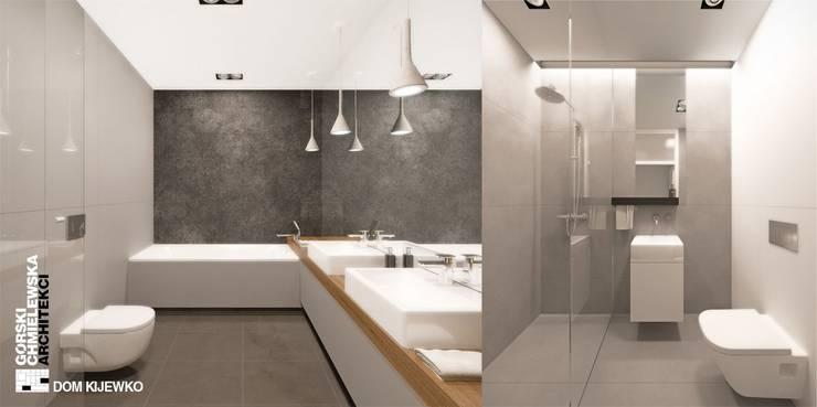 WNĘTRZE KIJEWKO: styl , w kategorii Łazienka zaprojektowany przez GÓRSKI CHMIELEWSKA ARCHITEKCI,
