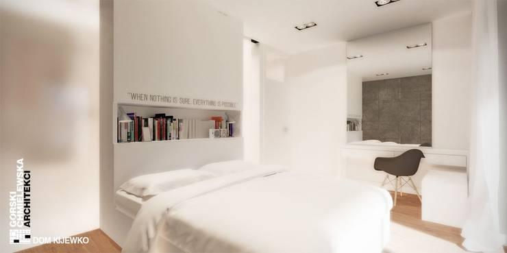 WNĘTRZE KIJEWKO: styl , w kategorii Sypialnia zaprojektowany przez GÓRSKI CHMIELEWSKA ARCHITEKCI,