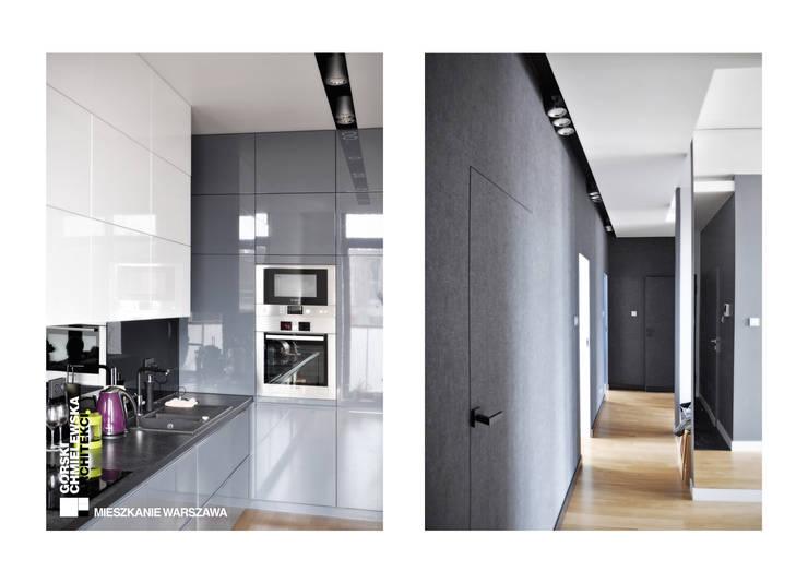 WNĘTRZE WARSZAWA: styl , w kategorii Kuchnia zaprojektowany przez GÓRSKI CHMIELEWSKA ARCHITEKCI,Nowoczesny