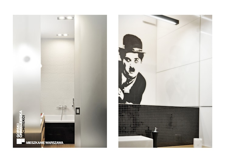 WNĘTRZE WARSZAWA: styl , w kategorii Łazienka zaprojektowany przez GÓRSKI CHMIELEWSKA ARCHITEKCI,Nowoczesny