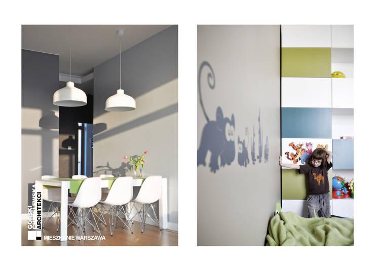 WNĘTRZE WARSZAWA: styl , w kategorii Jadalnia zaprojektowany przez GÓRSKI CHMIELEWSKA ARCHITEKCI,Nowoczesny