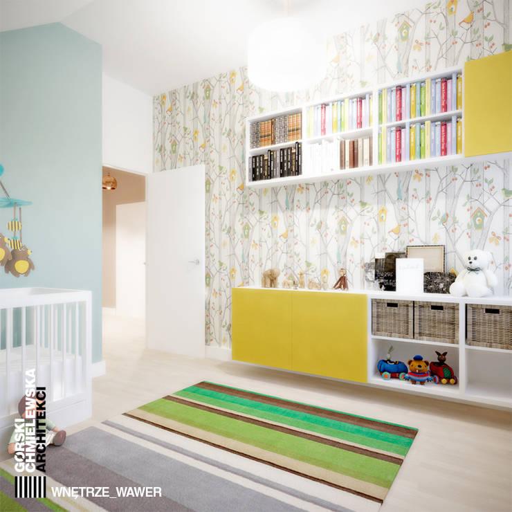 WNĘTRZE WAWER: styl , w kategorii Pokój dziecięcy zaprojektowany przez GÓRSKI CHMIELEWSKA ARCHITEKCI,Nowoczesny