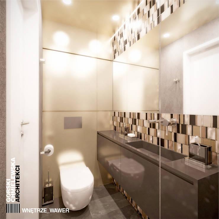WNĘTRZE WAWER: styl , w kategorii Łazienka zaprojektowany przez GÓRSKI CHMIELEWSKA ARCHITEKCI,Nowoczesny