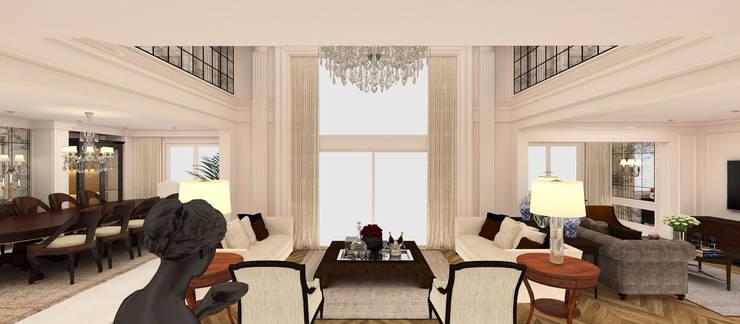 Kerim Çarmıklı İç Mimarlık – A.G. Evi:  tarz Oturma Odası