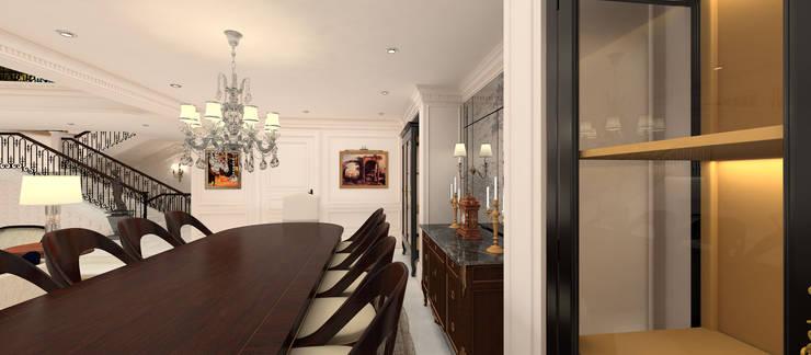 Kerim Çarmıklı İç Mimarlık – A.G. Evi:  tarz Yemek Odası