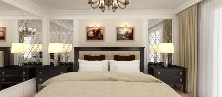 Kerim Çarmıklı İç Mimarlık – A.G. Evi: klasik tarz tarz Yatak Odası