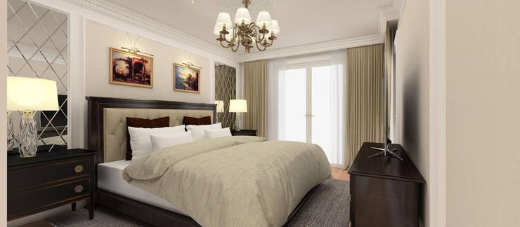 Kerim Çarmıklı İç Mimarlık – A.G. Evi:  tarz Yatak Odası