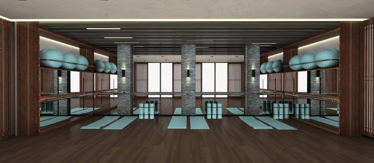 Kerim Çarmıklı İç Mimarlık – Spora Club:  tarz Fitness Odası