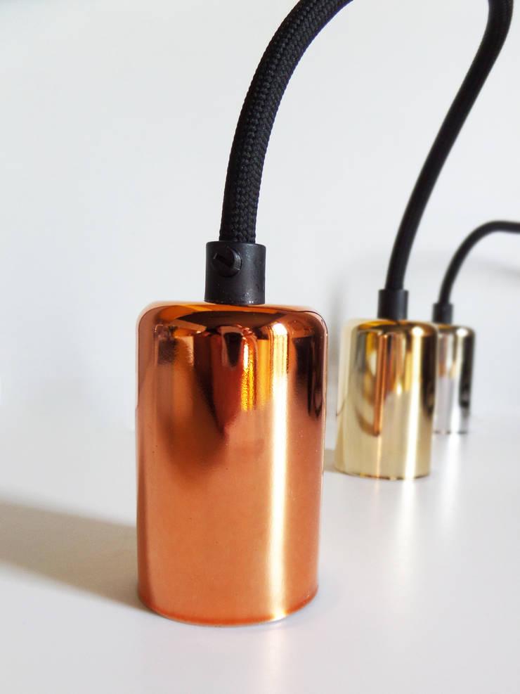 oprawki do lamp CablePower: styl , w kategorii Domowe biuro i gabinet zaprojektowany przez CablePower