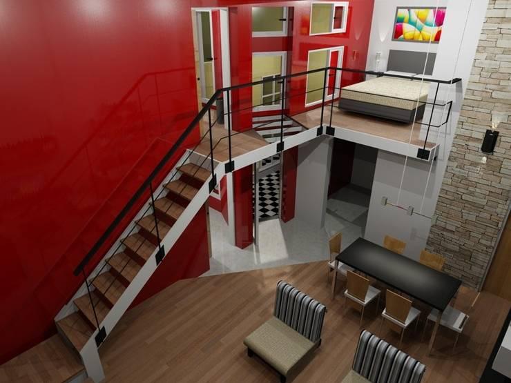 Salas / recibidores de estilo  por Area61 Arquitectura