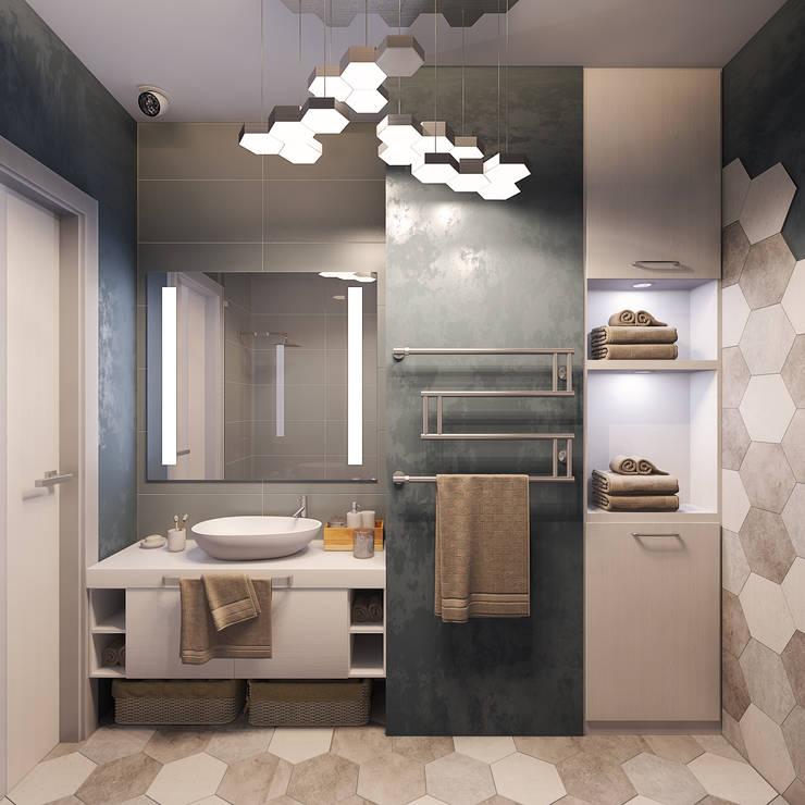 """Визуализации проекта """"Частичка Скандинавии"""": Ванные комнаты в . Автор – Alyona Musina"""