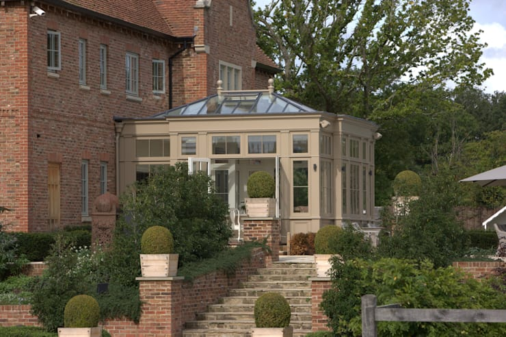 Orangery side view. :  Conservatory by Westbury Garden Rooms