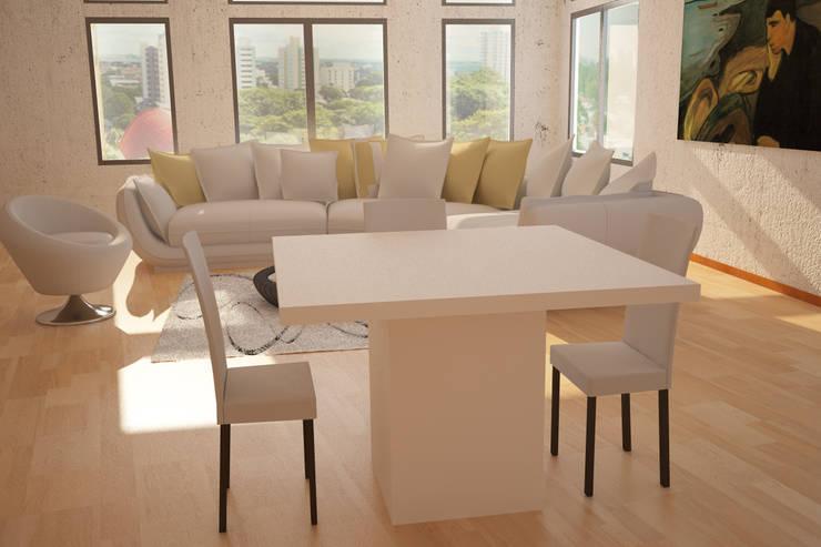 Mesa: Comedores de estilo  por Renders SLB,