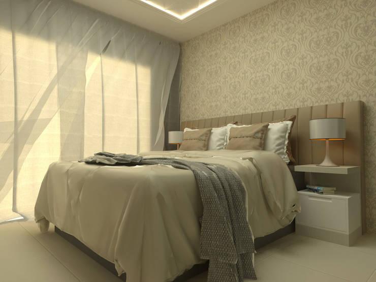 Projeto Residencial Colombo: Quartos  por Elaine de Bona Arquitetura e Interiores
