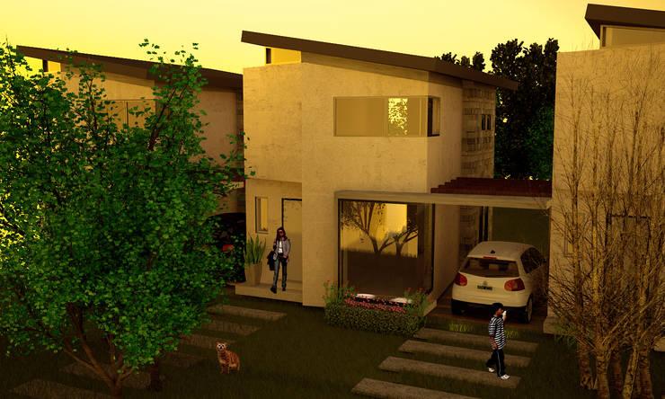 Proyecto Duplex - City Bell:  de estilo  por Renders SLB