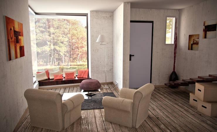 Proyecto Duplex - City Bell: Livings de estilo minimalista por Renders SLB