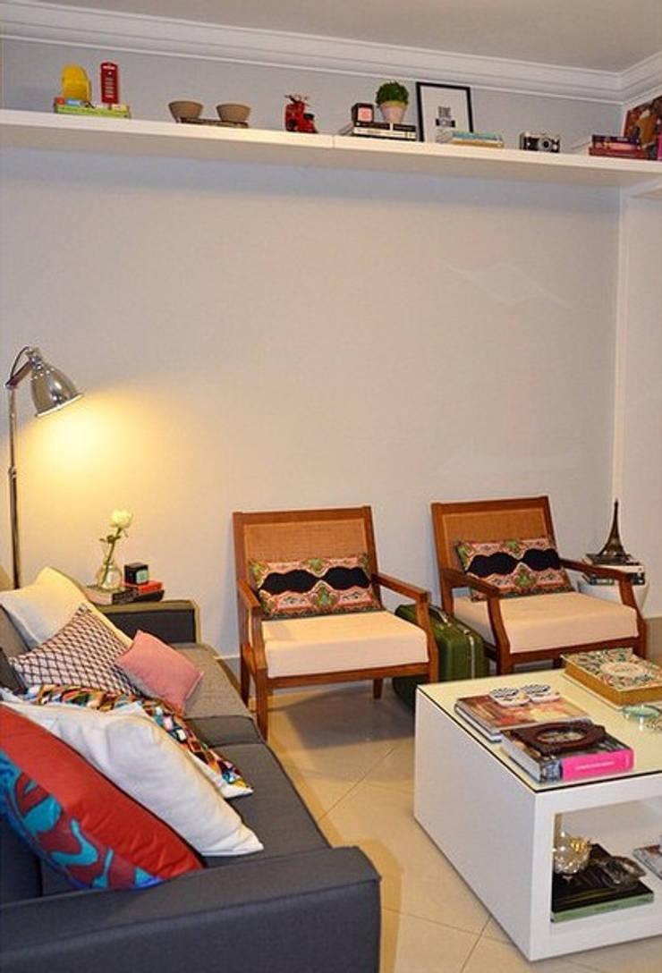 Apartamento Leblon II: Salas de estar  por Duplex Interiores