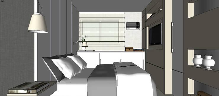 Cobertura Barra Bonita: Quartos  por Duplex Interiores