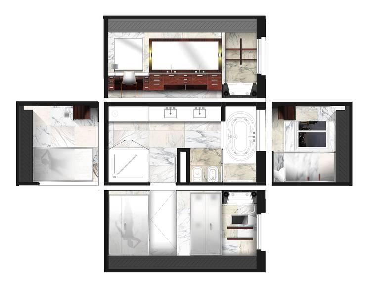 Baños de estilo  por KorteSa arquitectura