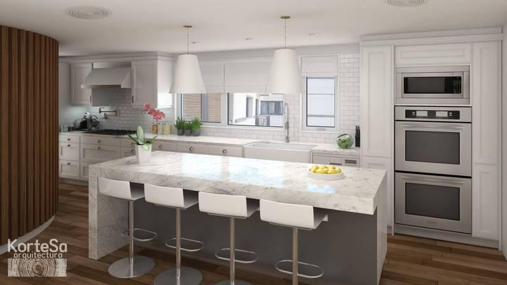Cocinas de estilo  por KorteSa arquitectura